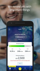 screenshot of myXL version Varies with device