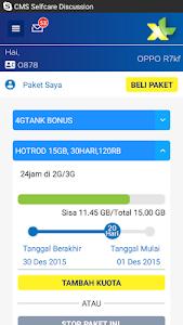 screenshot of MyXL version 1.9.5