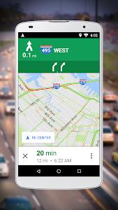 screenshot of Navigation for Google Maps Go version 10.2.6