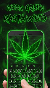 Download Neon Green Rasta Weed Keyboard Theme for Android v2.0 APK