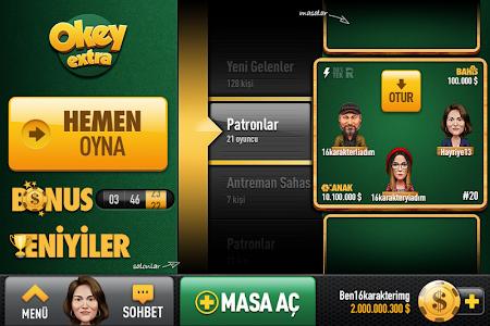 screenshot of Okey Extra version 1.1.3
