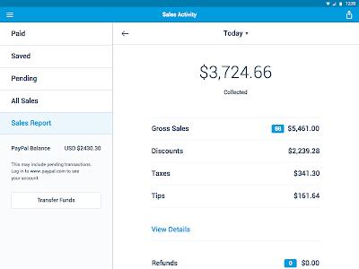 screenshot of PayPal Here - POS, Credit Card Reader version 3.2.1