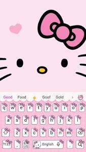 Download Pink Cute Kitty Cartoon Keyboard Theme 10001004 APK