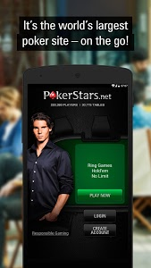 screenshot of PokerStars Poker: Texas Holdem version 1.37.0.600