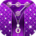 Download Purple Diamond Flower Zipper Lock Pattern 2.2 APK