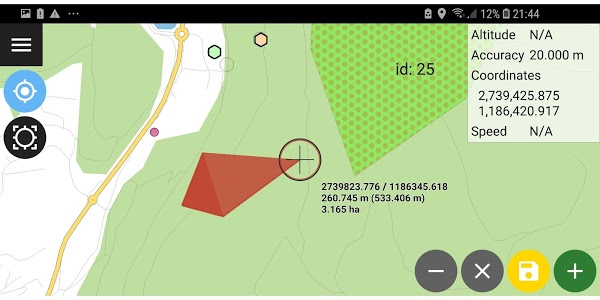 screenshot of QField for QGIS - RELEASE CANDIDATE 1 version Varies with device