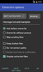 screenshot of RAR version 5.61.build67