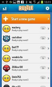 screenshot of Ruzzle Free version 1.7.2