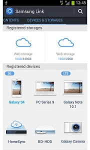screenshot of Samsung Link version Varies with device