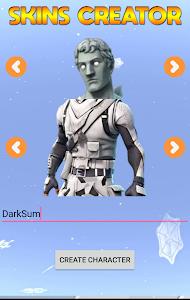 screenshot of Skins Creator for Fortnite version 1.0
