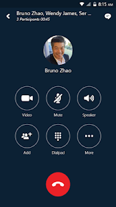 screenshot of Skype for Business for Android version 6.23.0.8