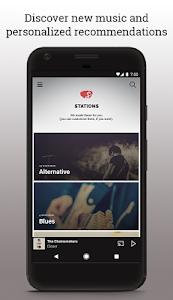 screenshot of Slacker Radio version 7.27.1