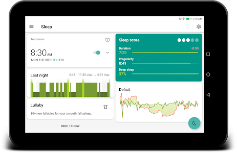 screenshot of Sleep as Android: Sleep cycle tracker, smart alarm version 20190109
