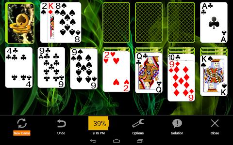 screenshot of Solitaire version 4.7.1121