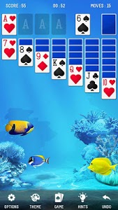 screenshot of Solitaire Ocean version 1.2.144