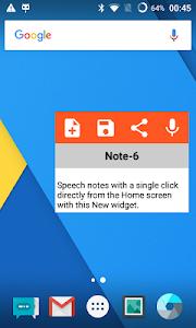 screenshot of Speechnotes - Speech To Text version 1.58