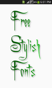 screenshot of Stylish Fonts version 1.8