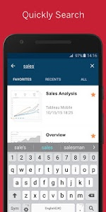 screenshot of Tableau Mobile version 18.304.1