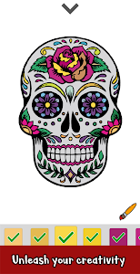screenshot of Tattoo Color by Number : Adult Coloring Book Pages version 1.2