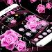Download Theme Pink Rose Black Flowers Pendants 1.1.7 APK