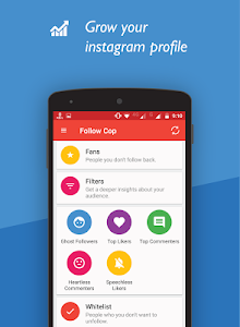screenshot of Unfollowers for Instagram, Follow Cop version 4.5.1