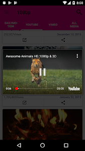 screenshot of Vaik popup player version 1.0