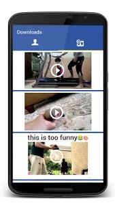 screenshot of Video Downloader for Facebook version 1.0
