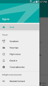 screenshot of WestJet version 2.6