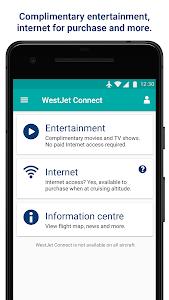 screenshot of WestJet version 3.12.1