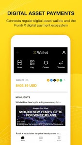 screenshot of XWallet version 1.2.7
