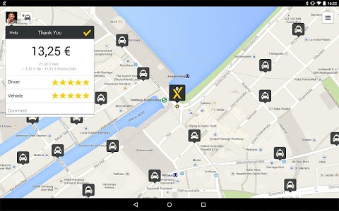 screenshot of mytaxi – The Taxi App version Varies with device
