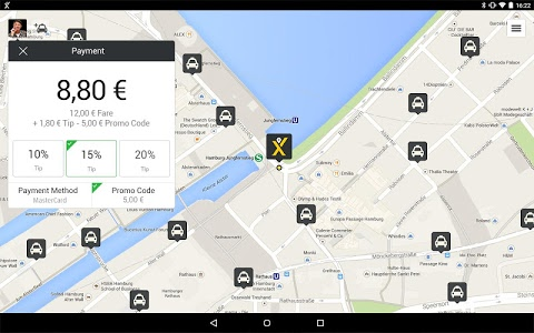 screenshot of mytaxi – The Taxi App version 6.2.2
