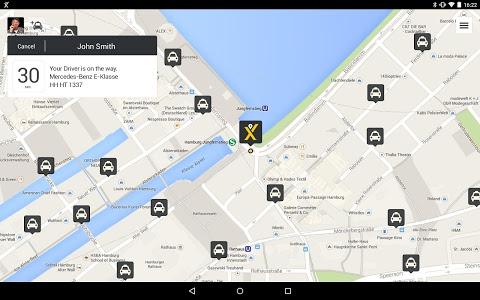 screenshot of mytaxi – The Taxi App version 5.4.4