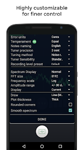 screenshot of Guitar Tuner Free version 2.0.0